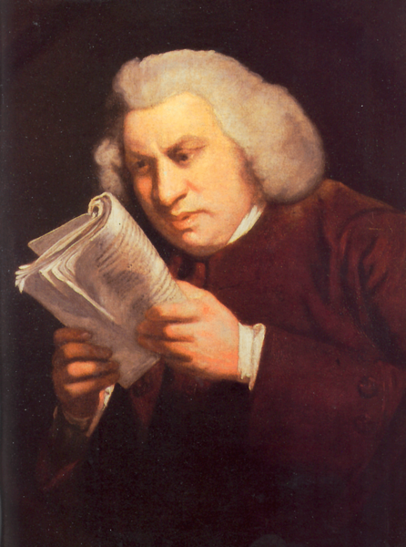 Samuel Johnson, painted by Sir Joshua Reynolds.
