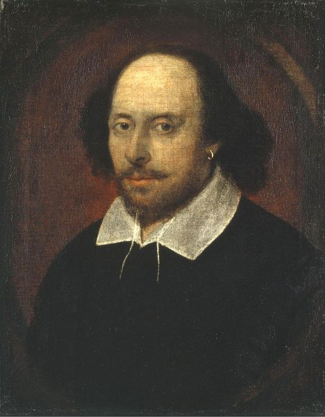William Shakespeare, Chandos Portrait.