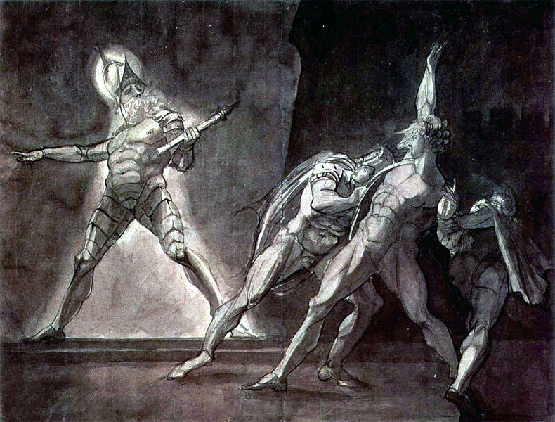 Painting of Shakespeare's Hamlet and his father's ghost by Henry Fuseli.